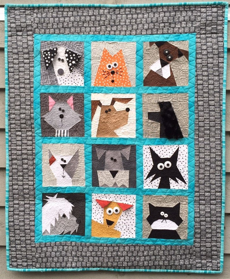 Cats N' Dogs Quilt Pattern