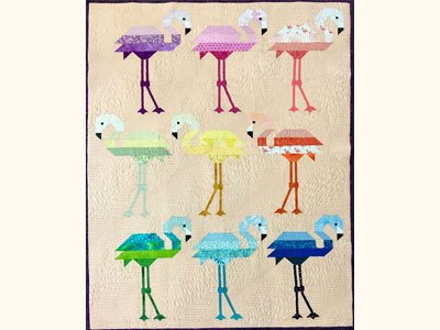 Florence Flamingo Quilt Kit