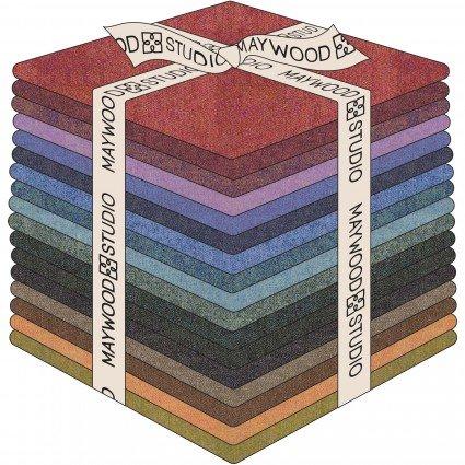 Fat Qtr Texture Illusion 17 pcs