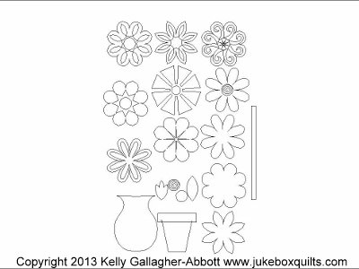 JBKGA Flower Shop Applique Set