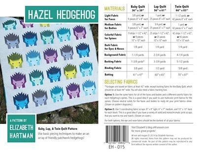 Hazel Hedgehog Elizabeth Hartman