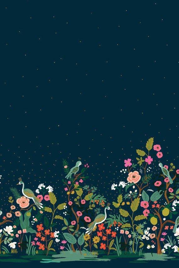 Growing Garden - Navy 8057