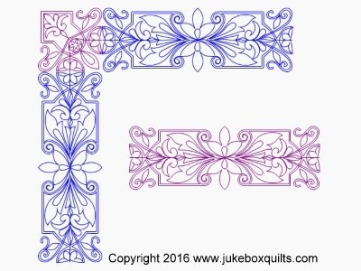 JB Elegant Flower border set