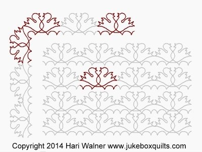 JBHW Birds in Clouds Border set