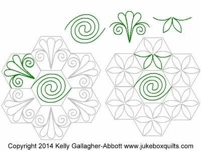 JBKGA Hexagon Flower P2P set