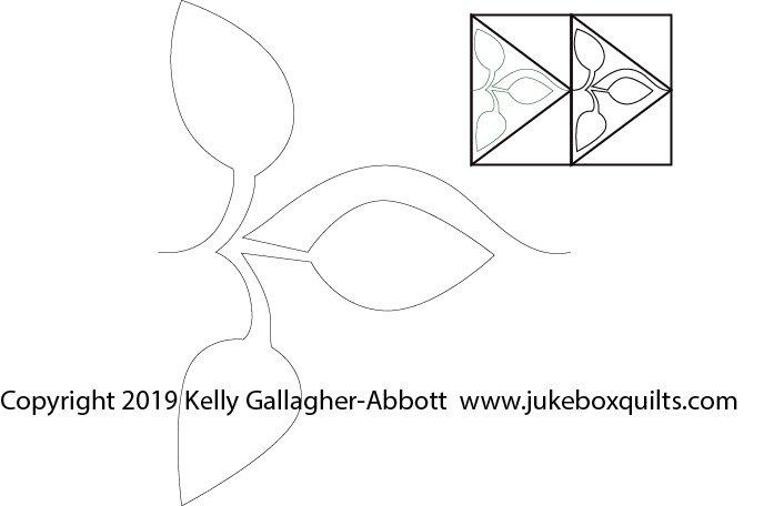 JBKGA Leafy Flying Geese P2P B2B