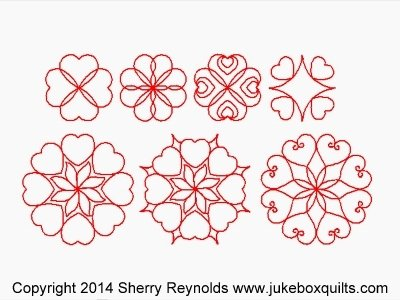 JBSR Hearts Around Block set