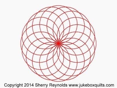 JBSR Spirograph Circle Block