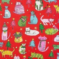 Jingle Cats Red 8529 A