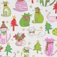 Jingle Cats Nat/Pink 8529 B