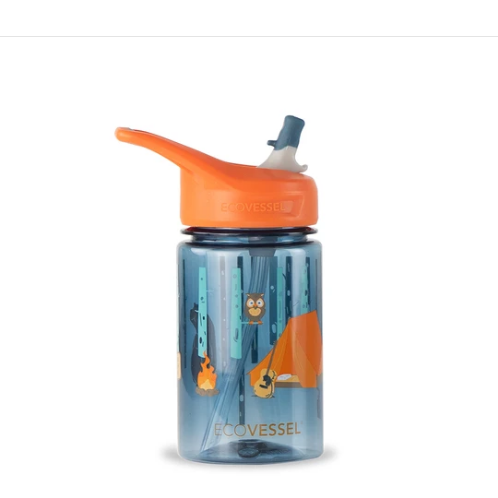 EcoVessel The Splash Kids Water Bottle with Straw