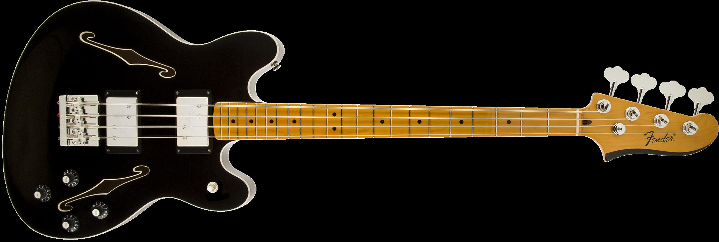 Fender Starcaster Bass, Maple Fingerboard, Black
