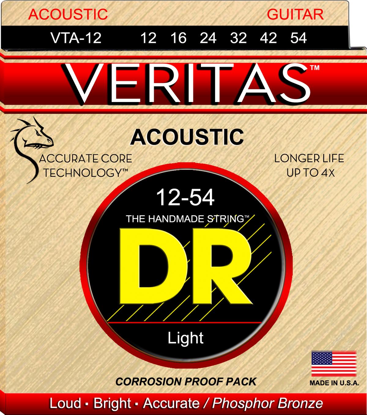 DR Strings Veritas 12-54 PHS BRZ Acoustic