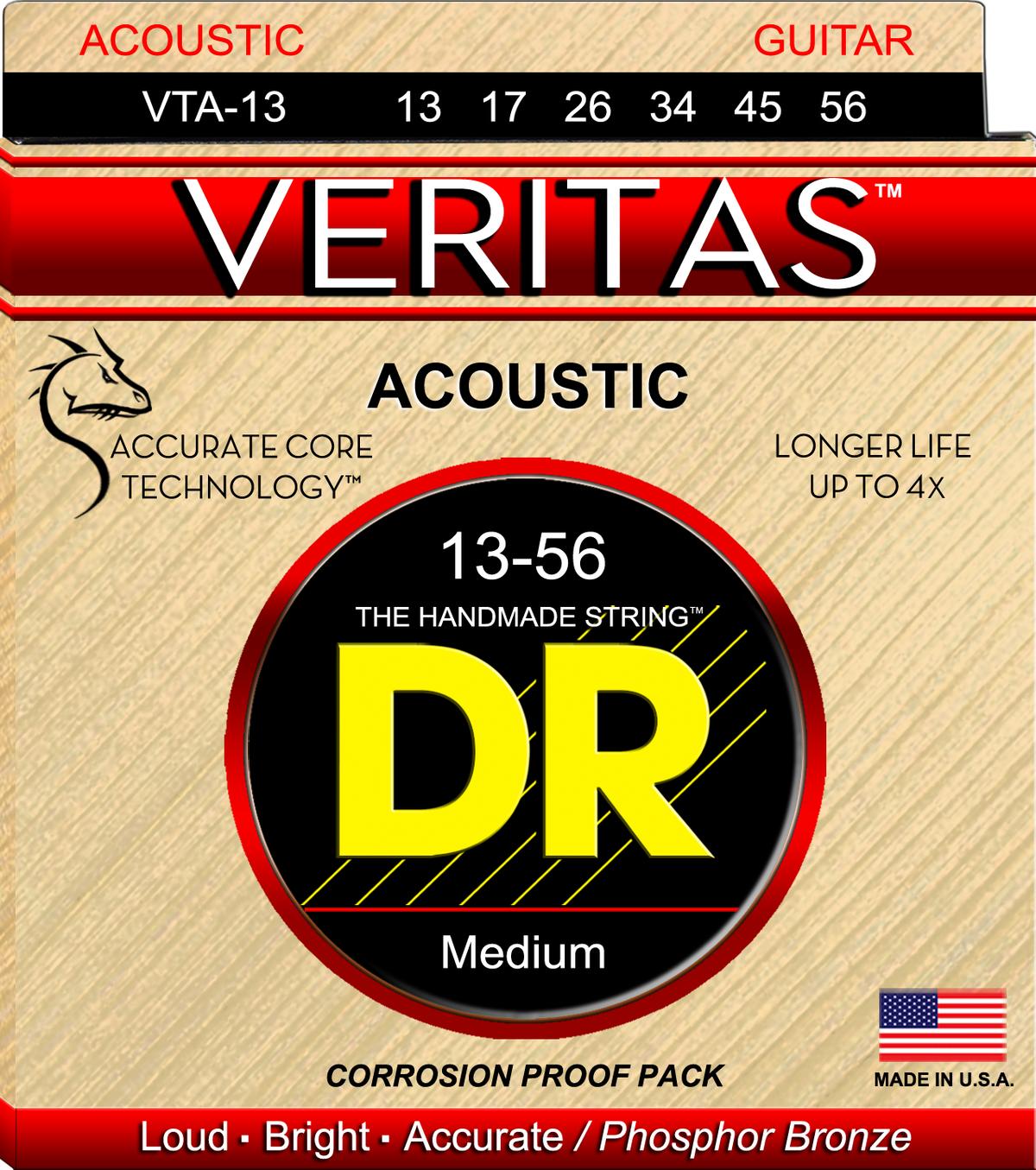 DR Strings Veritas 13-56 PHS BRZ Acoustic