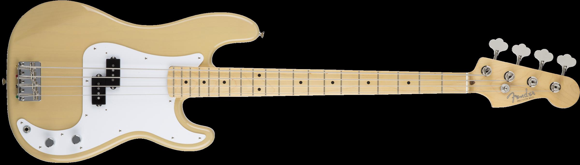 Fender MIJ Hybrid '50s Precision Bass, Maple Fingerboard, Off White Blonde