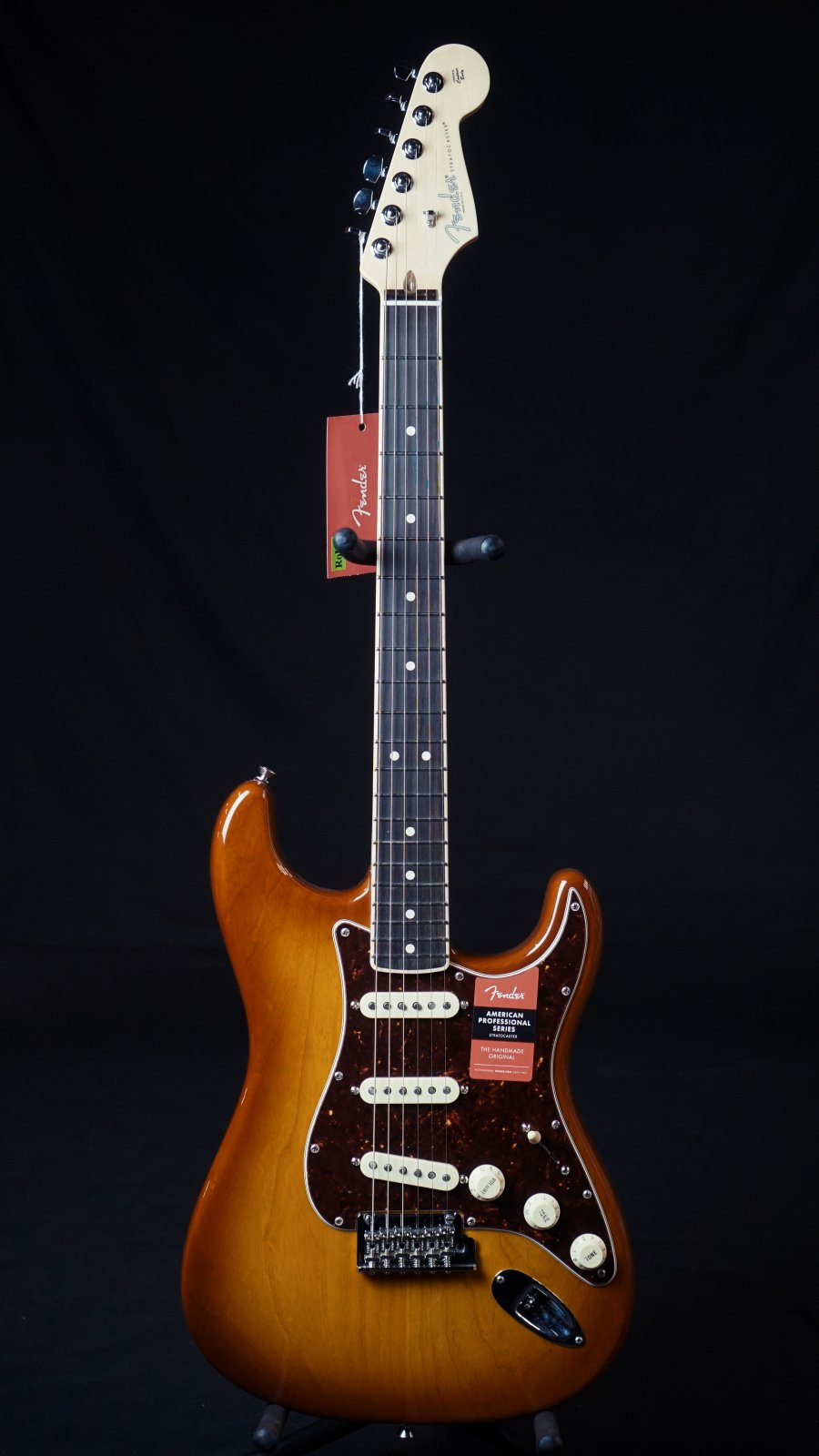 Fender Limited Edition American Pro Stratocaster, Honeyburst, Channel-Bound Rosewood Neck
