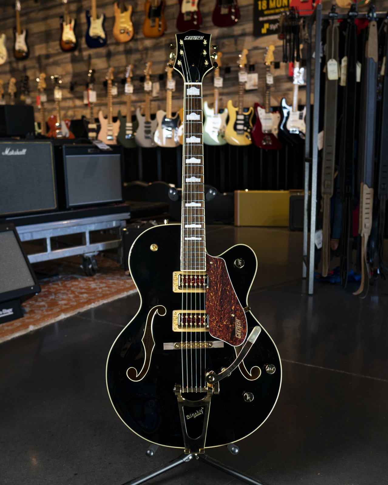 Gretsch G5420TG Limited Edition Electromatic '50s Hollow Body Single-Cut with Bigsby and Gold Hardware, Rosewood Fingerboard, Black
