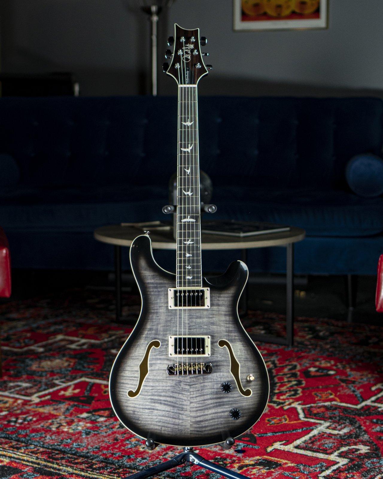 PRS SE Hollowbody II Charcoal Burst Electric Guitar