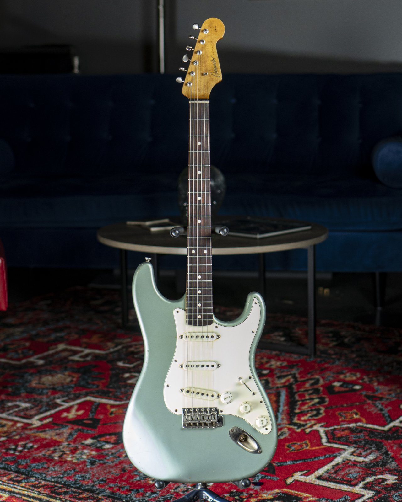 Used 2011 Danocaster Double Cut Ice Blue