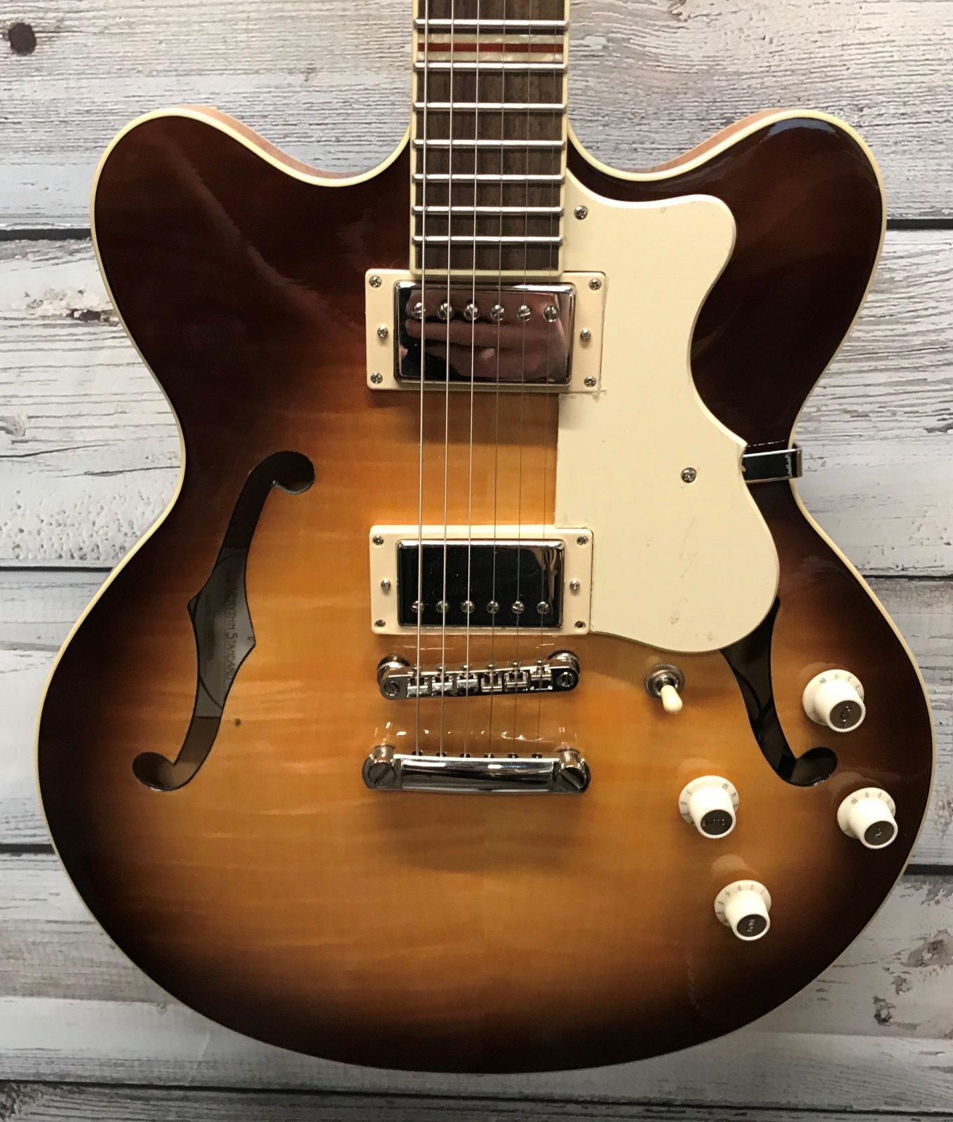 Hofner Contemporary Verythin Guitar, Light Burst Finish W/Case
