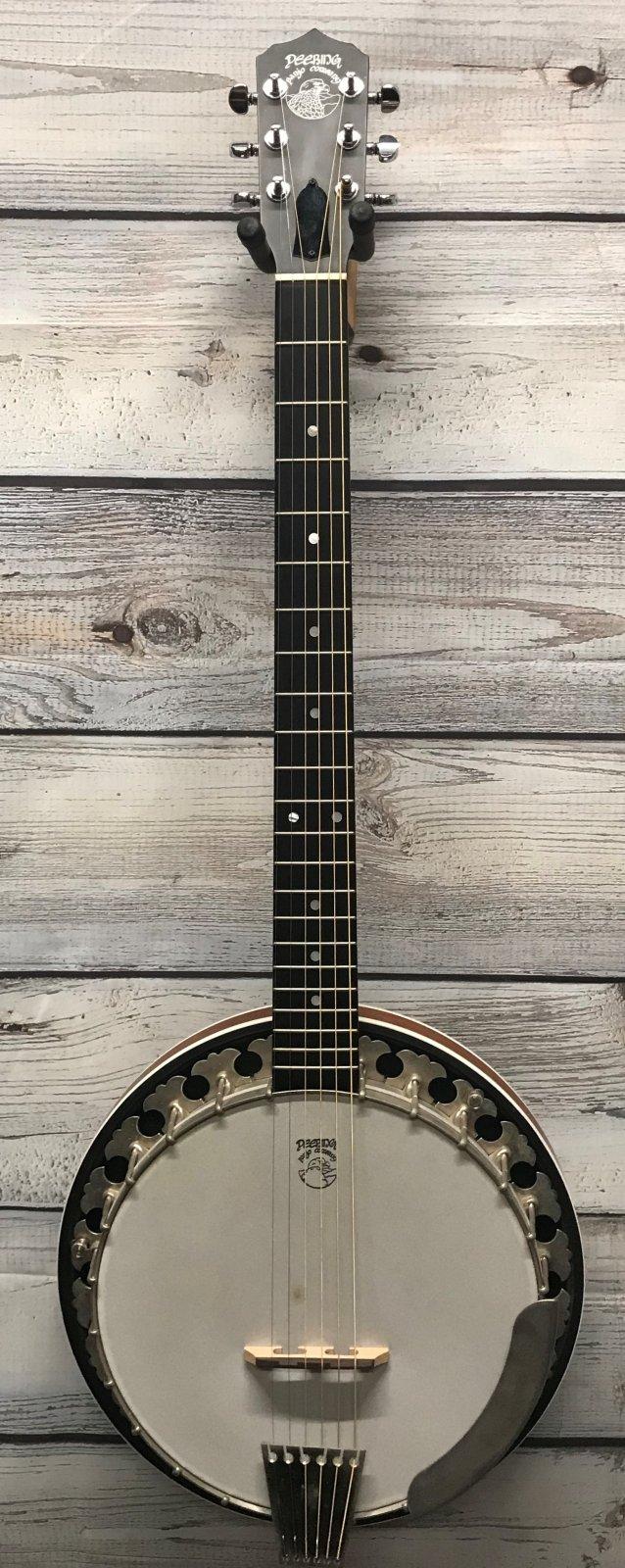 Used Deering Boston B6 Six String Banjo Left Handed