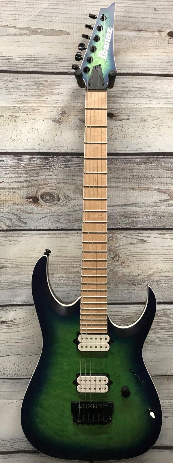 Ibanez RGAIX6MQM RGA Iron Label 6-String Electric Guitar, Surreal Blue Burst