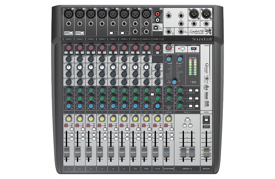 Soundcraft Signature 12 MTK Mixer w/ recording