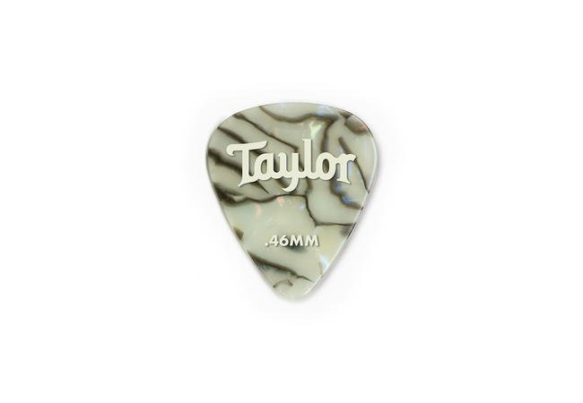 Taylor Celluloid 351 Picks, Abalone, 12-Pack