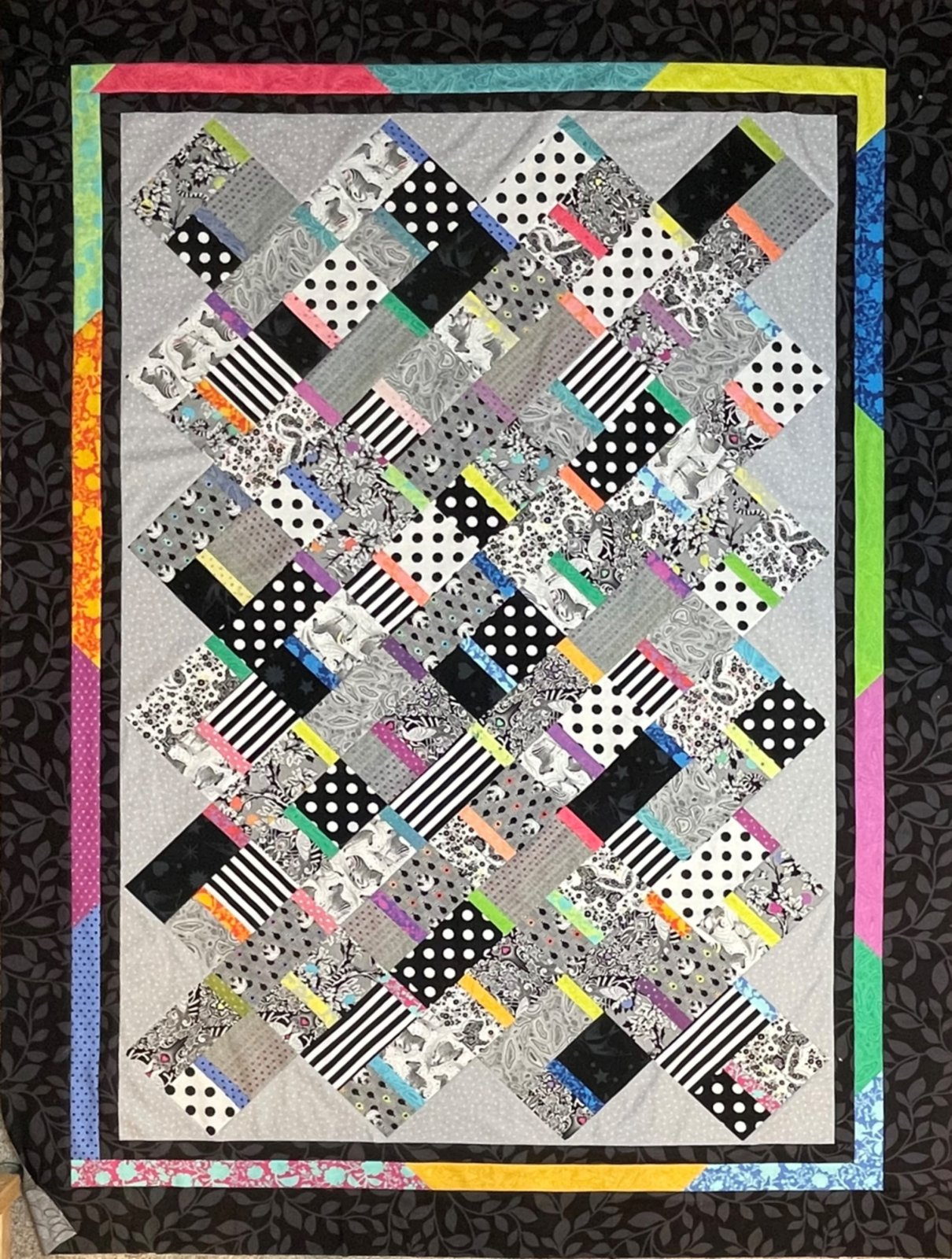 Simple Ribbons Quilt Pattern - Digital Download #450