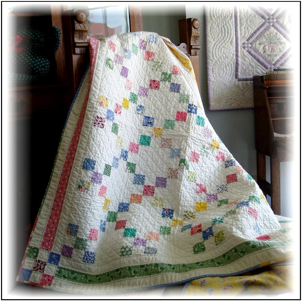 9-Patch Quilt & Tablecloth Pattern Digital Download #405