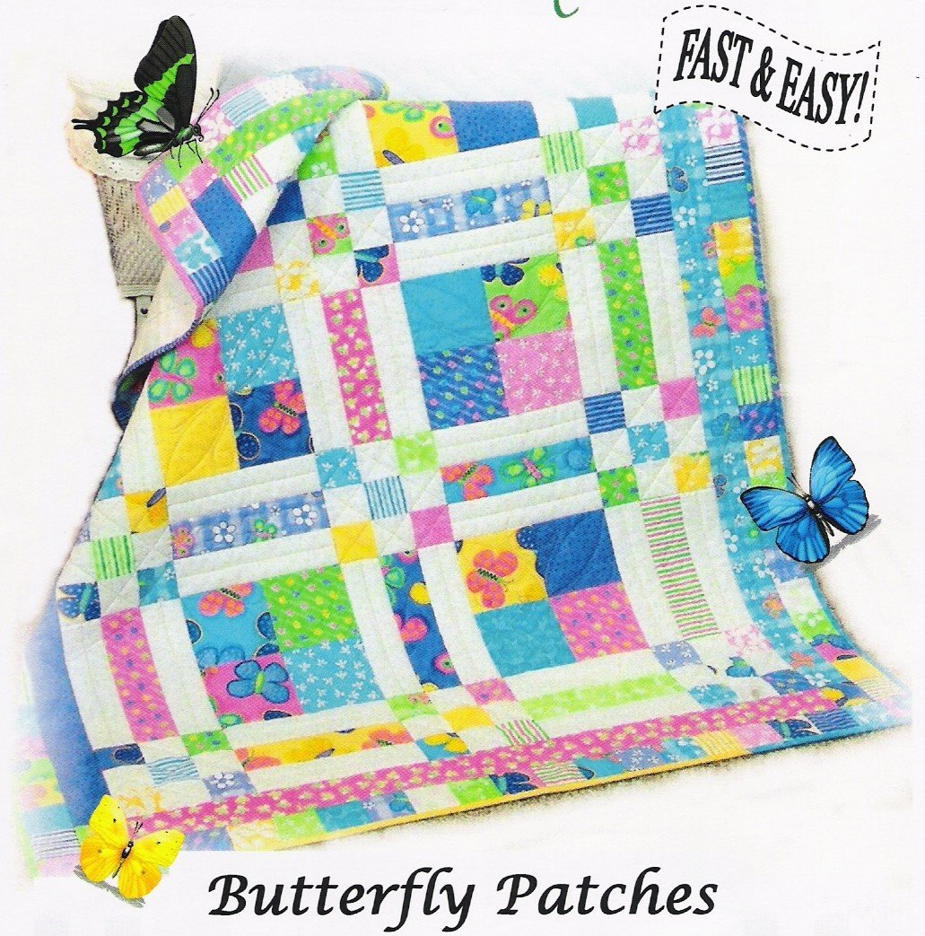 Butterfly Patches Pattern Digital Download #418