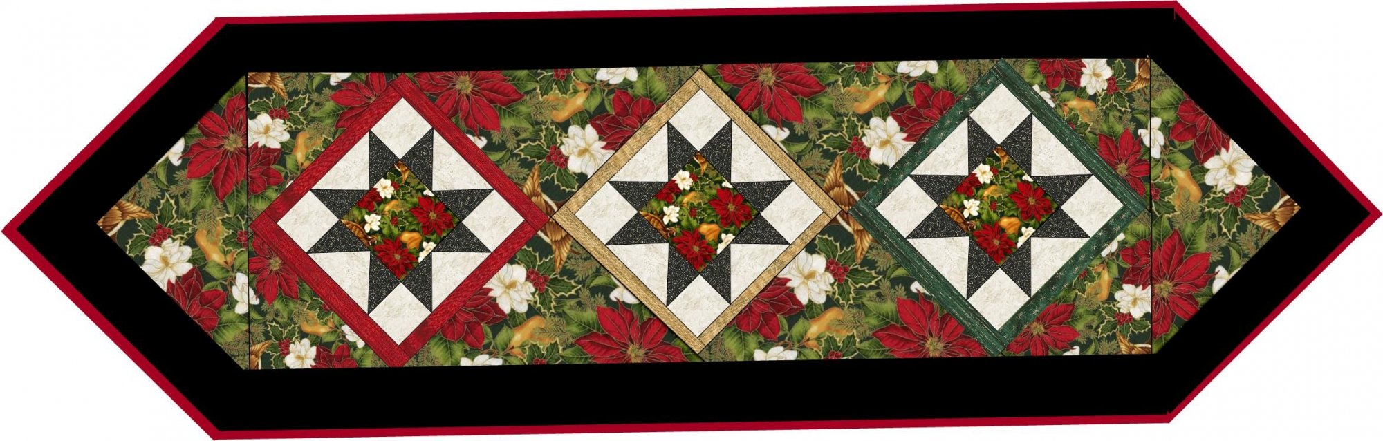 Happy Holiday Table Runner & Wall Hanging Paper Pattern #430