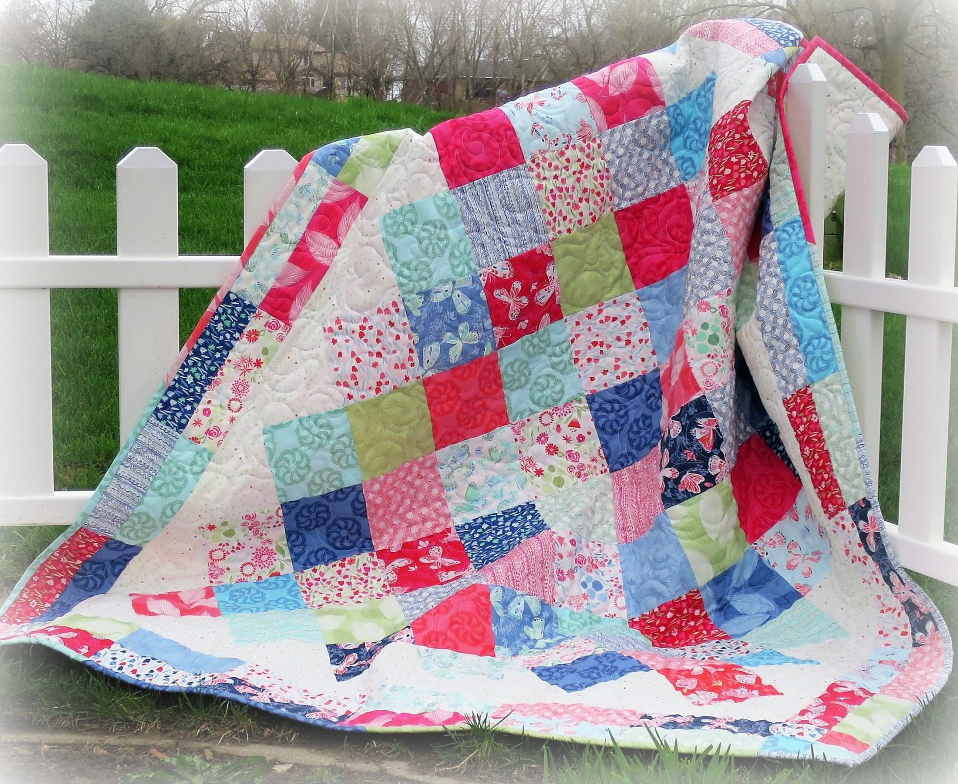 Picnic Party Quilt Pattern - Paper Pattern #448