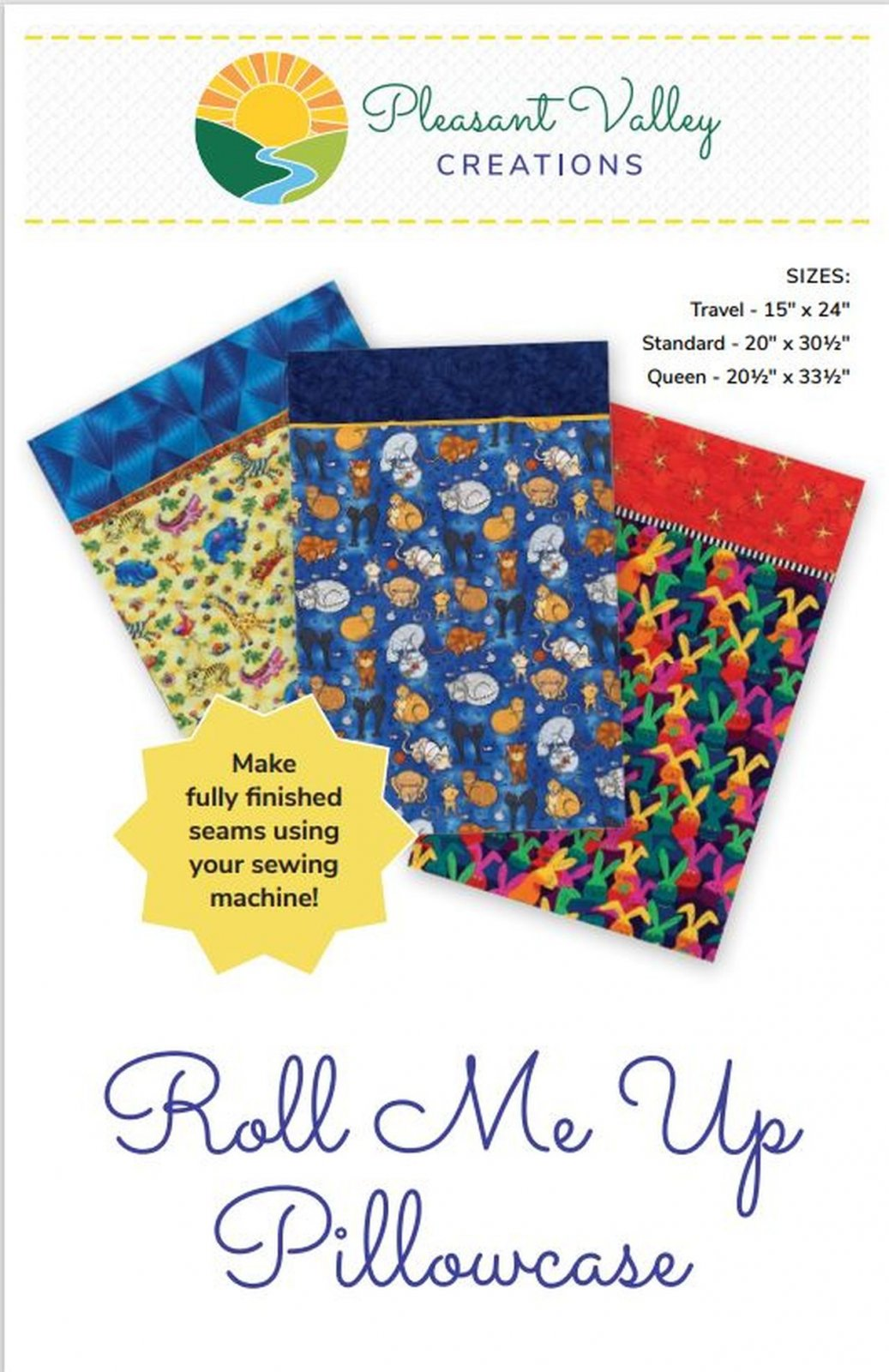 Roll Me Up Pillowcase pattern #459 digital download