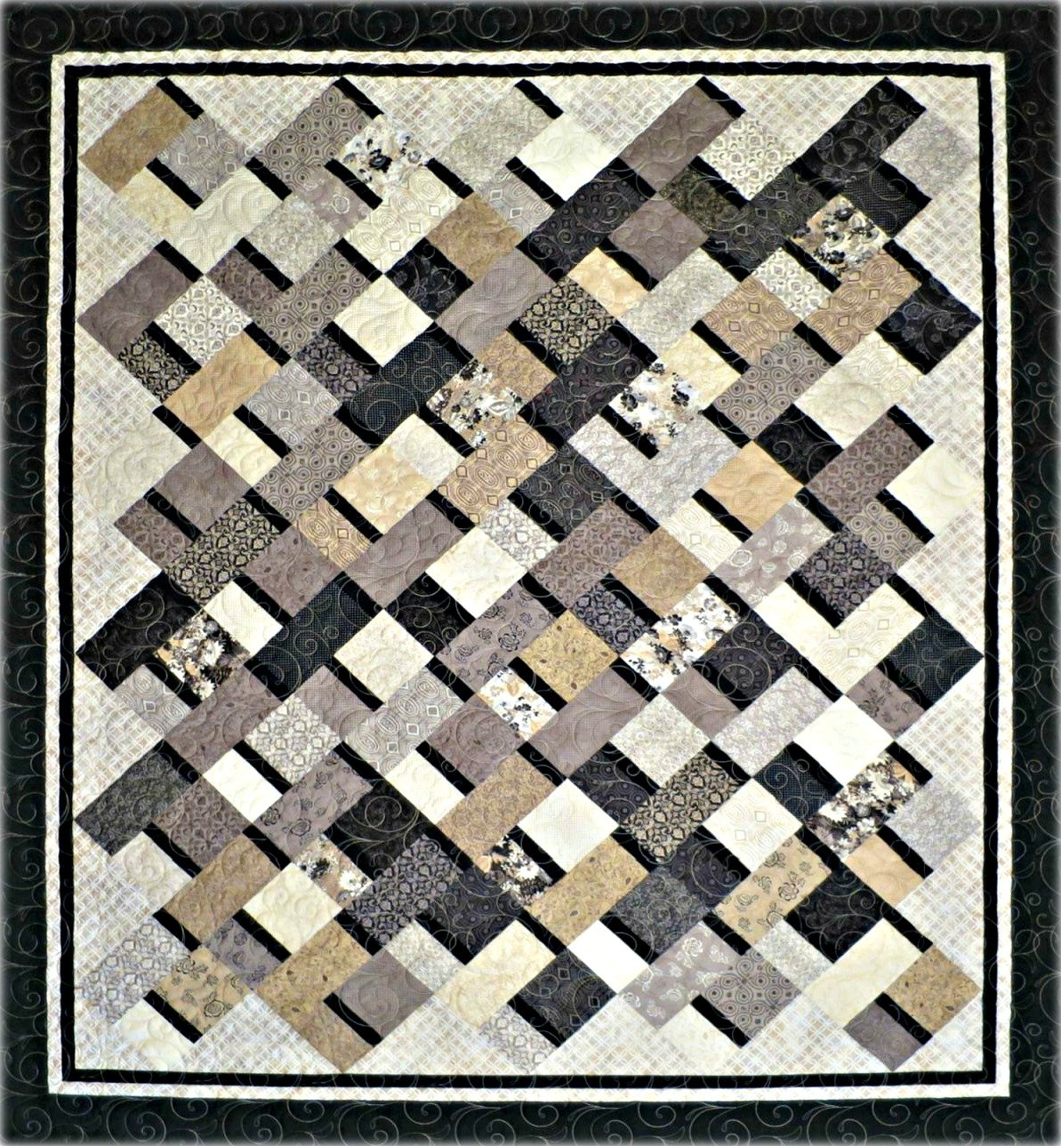Simple Ribbons Quilt Pattern - Paper Pattern #450