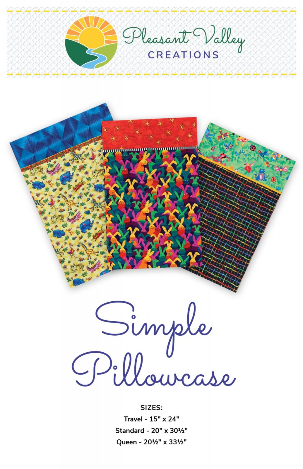 Simple Pillowcase Pattern #458 Digital Download