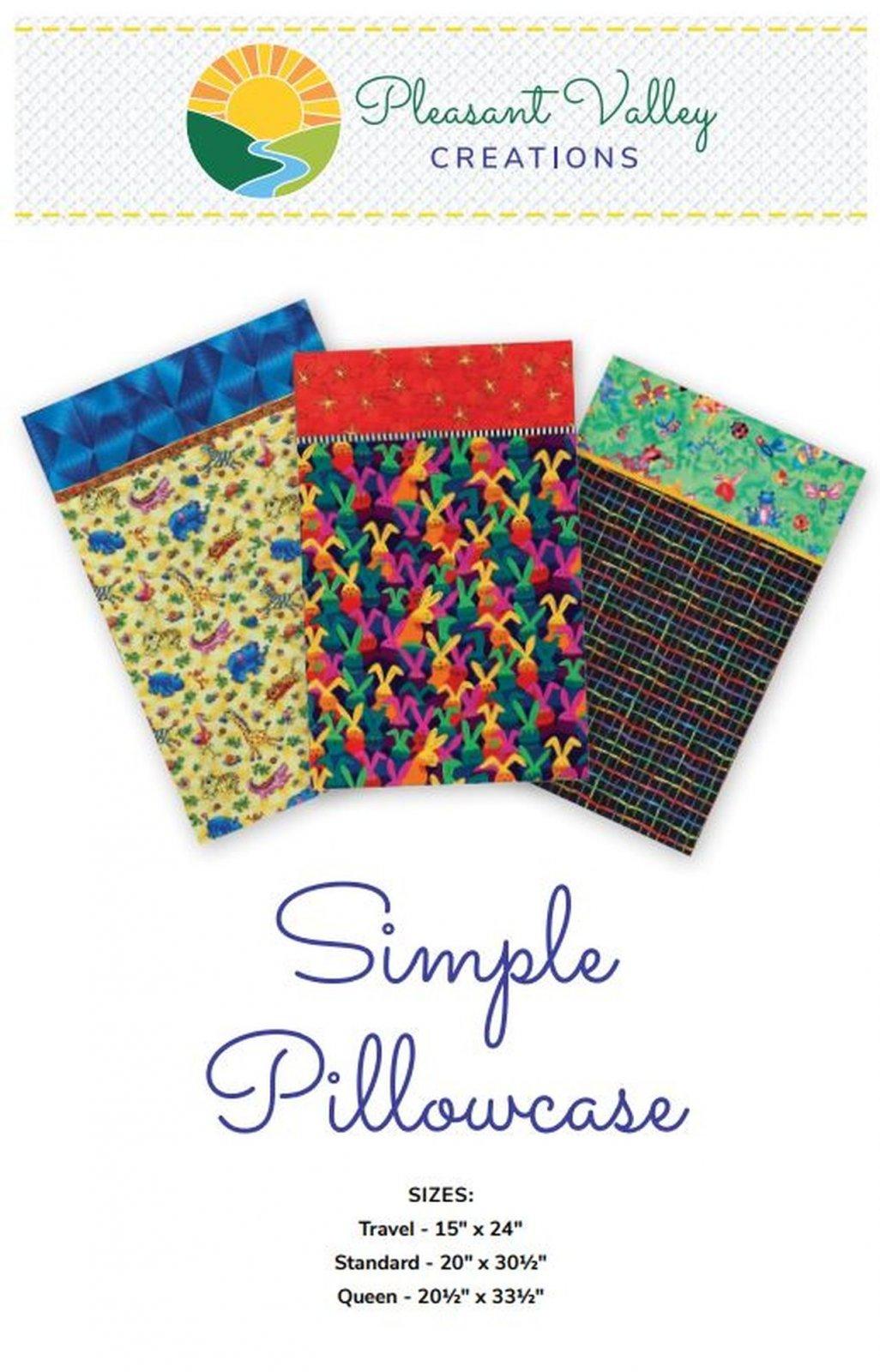Simple Pillowcase pattern #458 Paper Pattern