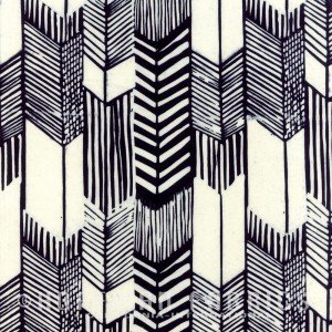 Indah Batiks Feathered Arrows - Zebra Black & White