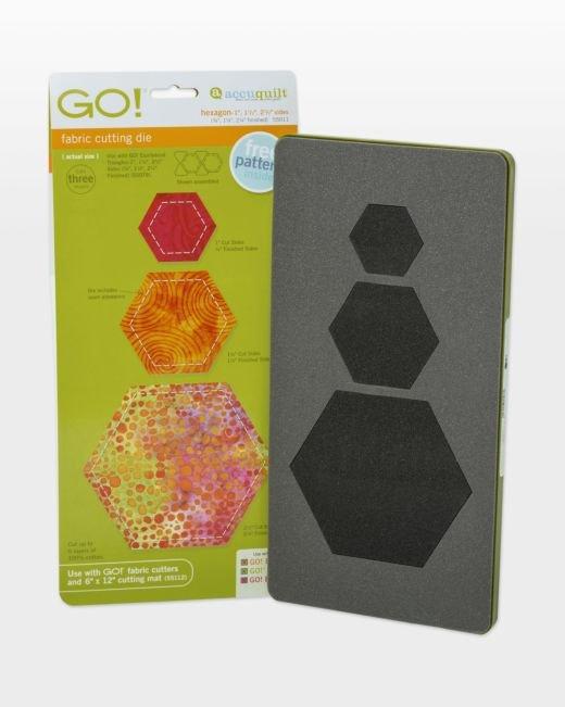 AccuQuilt GO! Hexagon Die  1, 1-1/2, and 2-1/2 sides