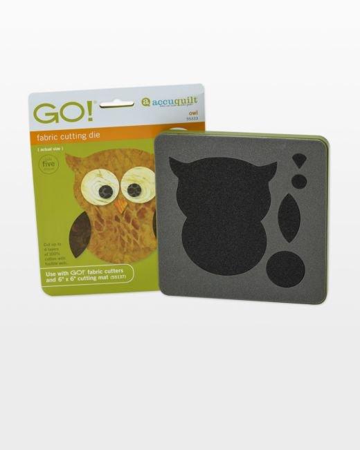 AccuQuilt GO! Owl Die  4 x 4-1/2
