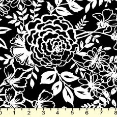 Elements Floral on Black