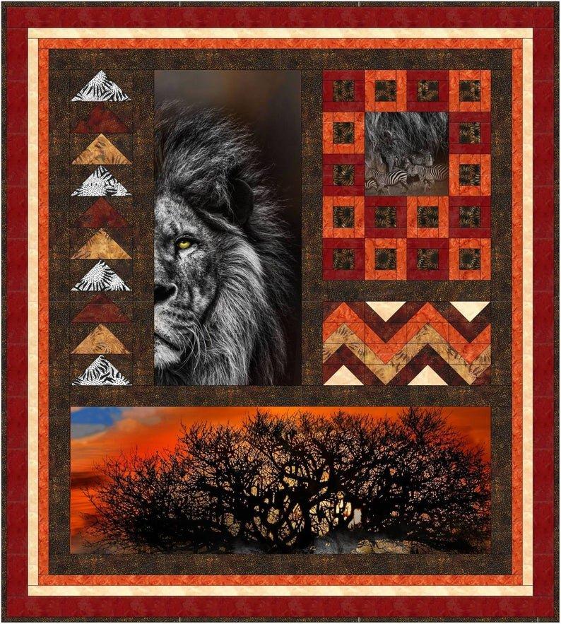 African Summer Quilt Kit 52 x 58