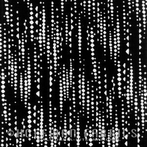 Indah Batiks Geo - Zebra Black & White