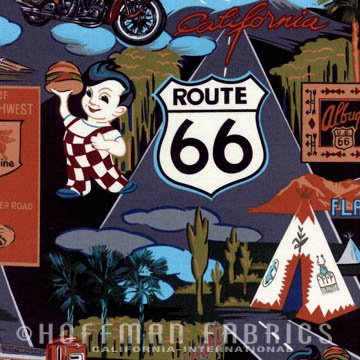Route 66 Print on Black