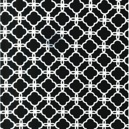 Pimatex Basics White Geometric on Black