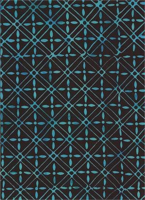 Batik Geometric Print Dark Blue