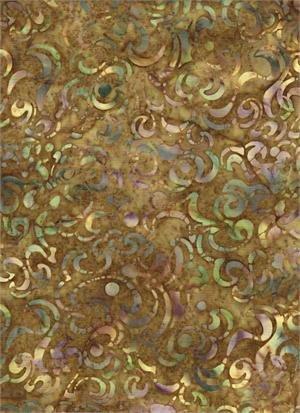 Batik Print Browns and Greens