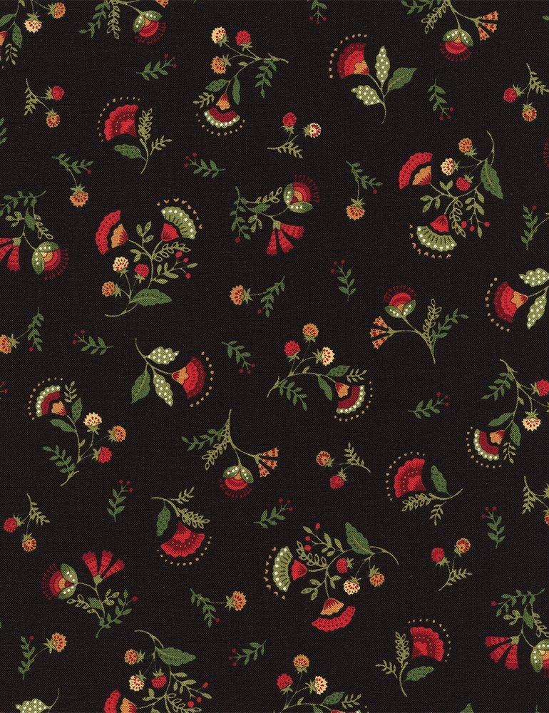 Jasmine Allover Floral on Black