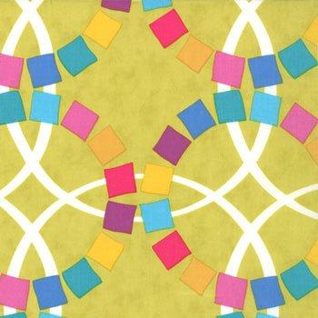 Moda Quilt Blocks Circles Mosaic - Chartreuse