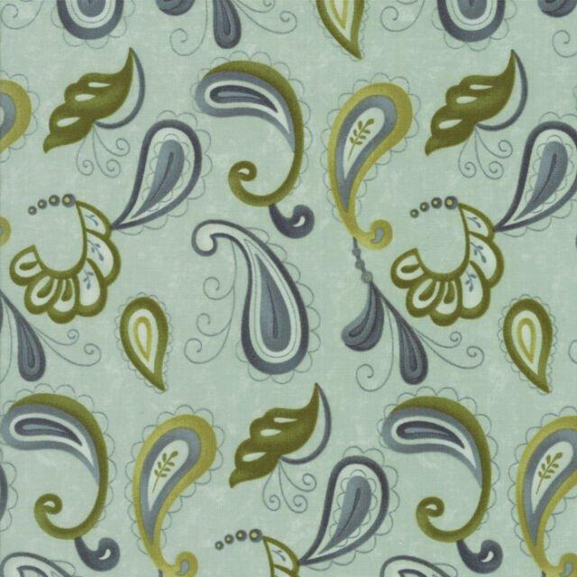 Moda Plush Paisley Floral - Ocean